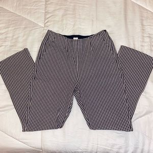 Gap Crop Flare Plaid Trousers
